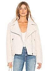 ASTR the Label Brooklyn Faux Fur Jacket In Ivory