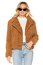 ASTR the Label Moto Jacket in Caramel