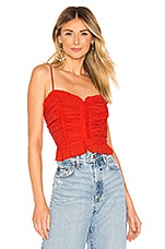 ASTR the Label Riley Top in Coral Red