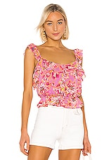 ASTR the Label Sherri Top in Lavender & Pink Floral