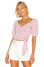 ASTR the Label Dina Top in Orchid & White