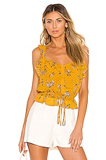 ASTR the Label Donna Top in Marigold Multi Floral