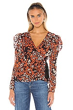 ASTR the Label Lissa Top in Red Gold Leopard