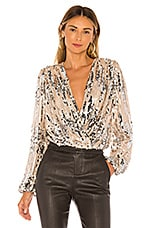 ASTR the Label Primadonna Top in Champagne Sequin