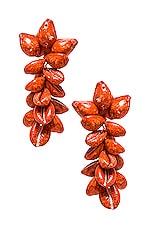 All Things Mochi Terry Earrings in Red Orange