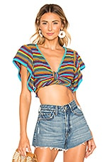 All Things Mochi Lana Wrap Top in Multi