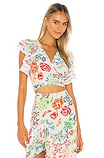 All Things Mochi Viola Blouse in White Floral
