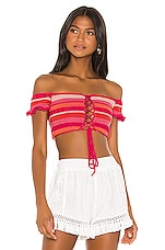 All Things Mochi Willie Bandeau Top in Red