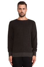 French Terry Pullover in Charcoal Heather