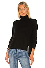 ATM Anthony Thomas Melillo Cashmere Wide Turtleneck Sweater in Black