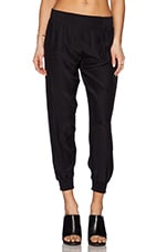 Woven Pull On Pants in Black