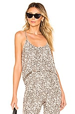 ATM Anthony Thomas Melillo Lunar Leopard Silk Cami in Lunar Combo