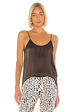 ATM Anthony Thomas Melillo Silk Cami in Dark Chocolate