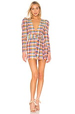 Atoir Set The Record Dress in Sunset Check