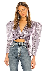 Atoir Close Call Crop Top in Lilac