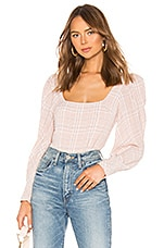Atoir Down To You Top in Pink Check