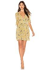 AUGUSTE X REVOLVE Valentina Crop Sleeve Mini Dress in Floral Bird Yellow
