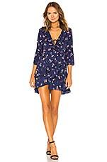 AUGUSTE Desert Dandelion Grace Mini Dress in Navy Blue