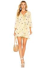 AUGUSTE Desert Dandelion Grace Mini Dress in Lemon