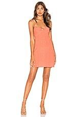 AUGUSTE Florence Tie Slip Mini Dress in Rust