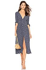 AUGUSTE X REVOLVE Jasmine Tie Sleeve Dress in Navy