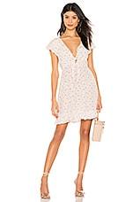 AUGUSTE X REVOLVE Jasmine Petal Cutaway Mini Dress in Cream