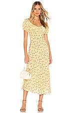AUGUSTE Eloise Penn Midi Dress in Yellow