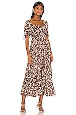 AUGUSTE Matilda Nina Midi Dress in Brown