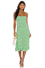 AUGUSTE X REVOLVE Maeve Davis Midi Dress in Vibrant Green
