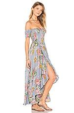 AUGUSTE Boheme Goddess Maxi Dress in Duck Egg Blue