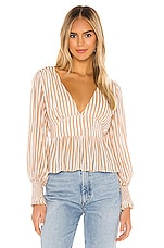 AUGUSTE Tour Sonnet Blouse in Almond