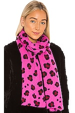 Autumn Cashmere Leopard Print Wrap in Rose Petal Combo