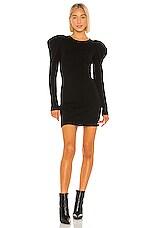 Autumn Cashmere Draped Sleeve Dress in Black