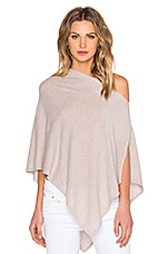 Cropped Poncho en Bone