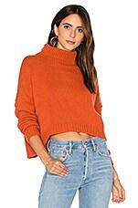 Autumn Cashmere Funnel Neck Sweater in Henna