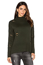 Autumn Cashmere Distressed Sweater in Cypress