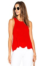 Autumn Cashmere Scallop Shaker Tank in Apple