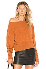 Autumn Cashmere Crop Boxy Sweater in Spice