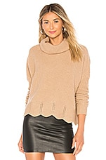 Autumn Cashmere Zig Zag Shaker Sweater in Camel