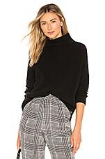Autumn Cashmere Funnel Neck Sweater in Black