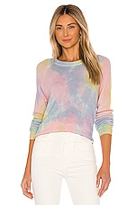 Autumn Cashmere Pastel Splotch Print Sweatshirt in Pastel Multi
