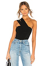 Autumn Cashmere One Shoulder Tube Top in Black