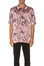 Alexander Wang Printed Silk Shirt in Hustler Repeat