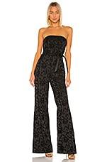Alexis Venetia Jumpsuit in Black Floral Jacquard