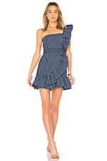 Alexis Konner Dress in Denim Stripes