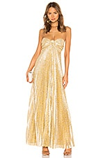 Alexis Joya Dress in Gold Lame