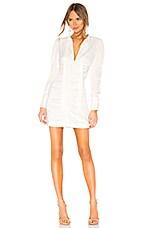 Alexis Lindon Dress in Geo White Print
