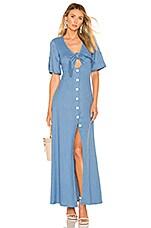 Alexis Jameela Dress in Shell Blue Linen