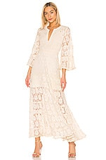 Alexis Alvin Dress in Beaded Ivory Lace