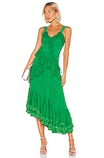 Alexis Bozoma Gown in Emerald Green